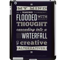 Funny Classic Movie Quote typography from Blazing Saddles by Harvey Korman iPad Case/Skin