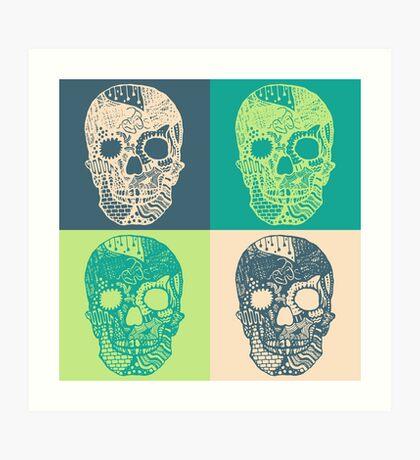 4 Skulls Art Print