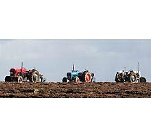 vintage tractor line Photographic Print