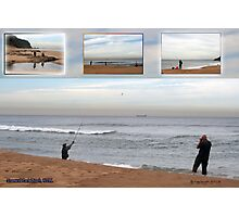Stanwell Park Beach, NSW, with cousins visiting from the Netherlands  Photographic Print
