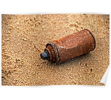 Rusted  Can Beach Poster