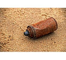 Rusted  Can Beach Photographic Print