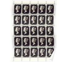 Penny Black Stamp (1d) 1840 Poster