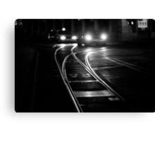the lines of night Canvas Print