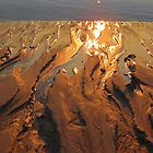 Glowing sun in the sand by debraroffo
