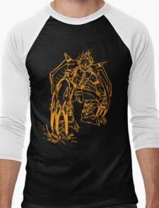 Wild Wargreymon - Color Ink Men's Baseball ¾ T-Shirt