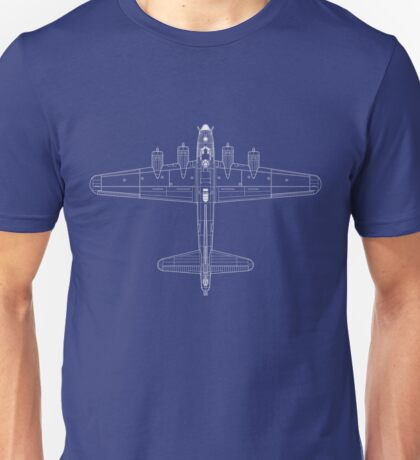 Boeing B-17 Flying Fortress Blueprint Unisex T-Shirt