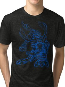 Wild Metalgarurumon - Color Ink Tri-blend T-Shirt