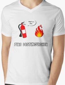 Fire Distinguisher  Mens V-Neck T-Shirt