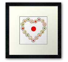 I Heart Sushi Framed Print
