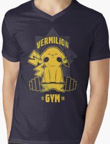 Christmas Gift Vermilion Gym Unisex Tshirt Mens V-Neck T-Shirt
