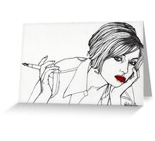 Girl with the Mont Blanc Greeting Card