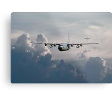 C130-Hercules ....In Trail Metal Print