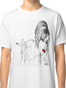 Girl with the Mont Blanc Classic T-Shirt
