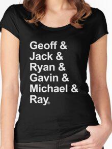 Geoff & Jack & Ryan & Gavin & Michael & Ray - White Women's Fitted Scoop T-Shirt