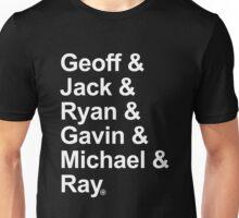 Geoff & Jack & Ryan & Gavin & Michael & Ray - White Unisex T-Shirt