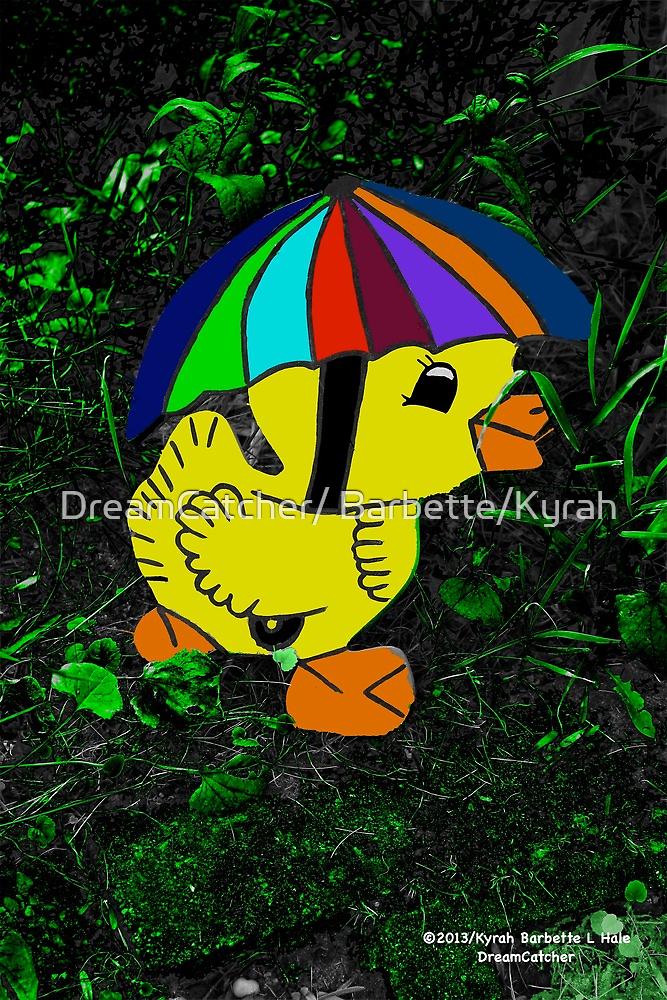Duckling with umbrella  by DreamCatcher/ Kyrah Barbette L Hale
