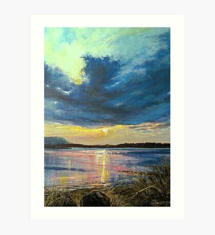 love Irish sky Art Print