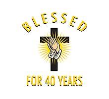 Religious 40th Birthday Gift Photographic Print