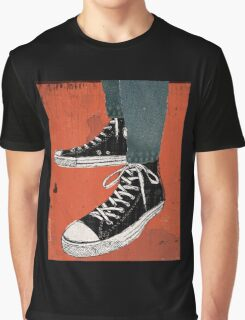 Hi-top shoes print poster art painting punk Graphic T-Shirt
