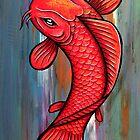 Red and Gold Koi by HiddenCityArt