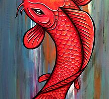Red and Gold Koi by HiddenCityArt