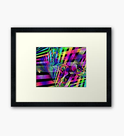 Discus Information Matrix Framed Print