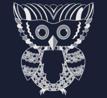 Silver Owl Vector Illustration for Dark Tees T-Shirt