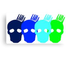 Olympus Multiple Cranium Design Canvas Print