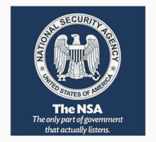 NSA WE DO LISTEN WE HEAR YOU NOW  by sturgils