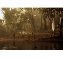 Chilly Morning Walking Photographic Print