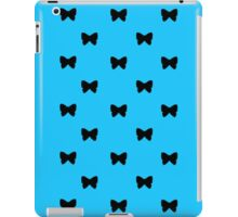 Black and Blue Bows iPad Case/Skin