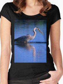 Great Blue Heron 1 Women's Fitted Scoop T-Shirt
