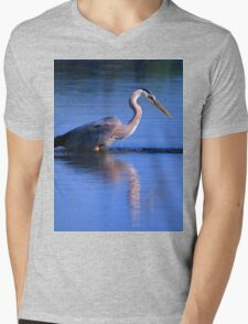 Great Blue Heron 1 Mens V-Neck T-Shirt