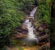 Skinny Dip Falls, North Carolina by James Hoffman