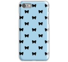 Black and Light Blue Bows iPhone Case/Skin