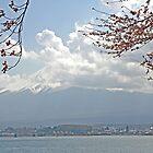 Mt Fuji in Clouds by Patty (Boyte) Van Hoff