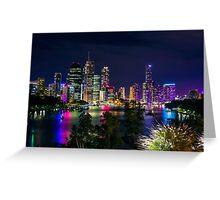 Night-time Cityscape - Kangaroo Point Greeting Card