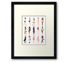 Trendy Princesses Framed Print