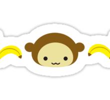Monkey with Bananas Sticker
