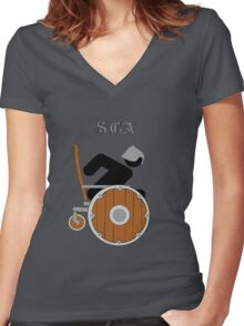 SCA Women's Fitted V-Neck T-Shirt