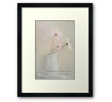 Touch Me Gently Framed Print