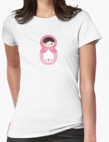 Matryoskha Doll - Bubblegum Pink Womens Fitted T-Shirt