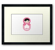 Matryoskha Doll - Bubblegum Pink Framed Print