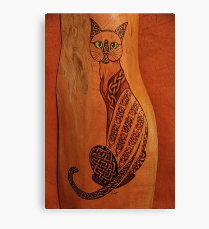 Pyrography: Celtic Cat -(please view large). Canvas Print