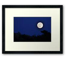 Super Moon O'er Sibley Volcanic Framed Print
