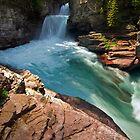 St Mary Falls, Glacier National Park by Matt Tilghman