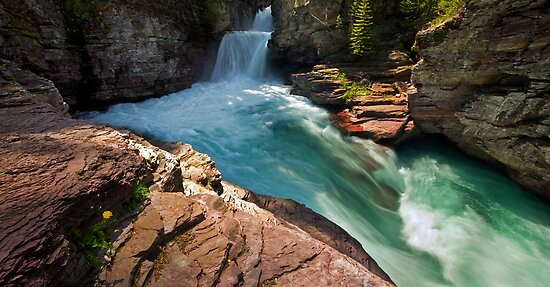 St Mary Falls, Glacier National Park by Matt Tilghman
