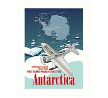 Antarctica Northrop Gamma Art Print