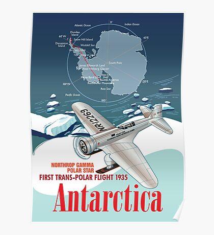 Antarctica Northrop Gamma Poster